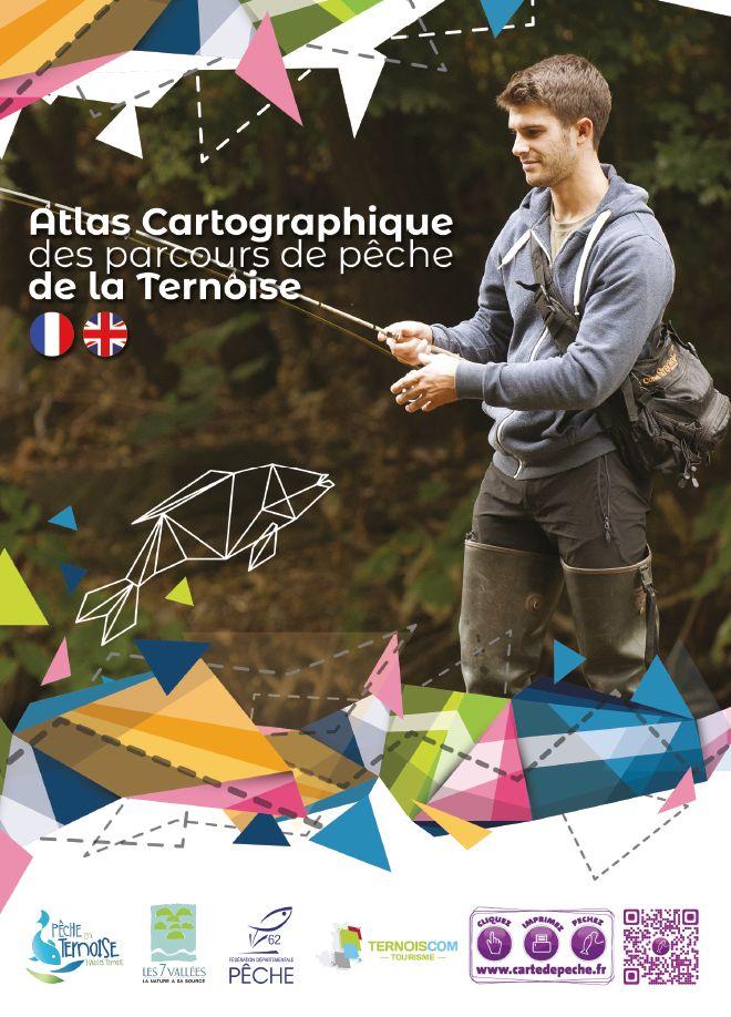 Couverture atlas cartographique pêche en Ternoise